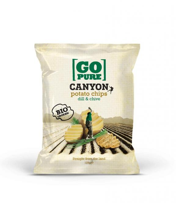 Canyon dill & chive Chips 125g